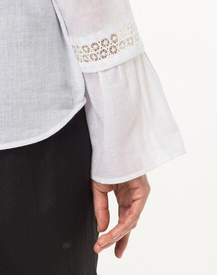 Eden ecru cotton blouse (2) - 1-2-3