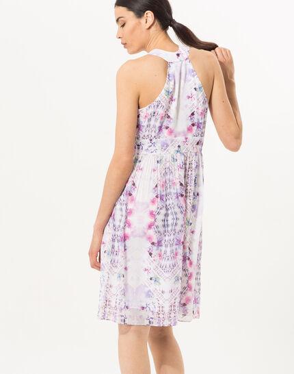 Robe imprimée lilas Florane (4) - 1-2-3