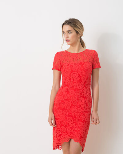 Friandise coral lace dress (1) - 1-2-3