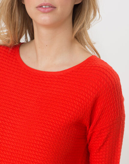 Hélice geranium sweater with long sleeves (5) - 1-2-3