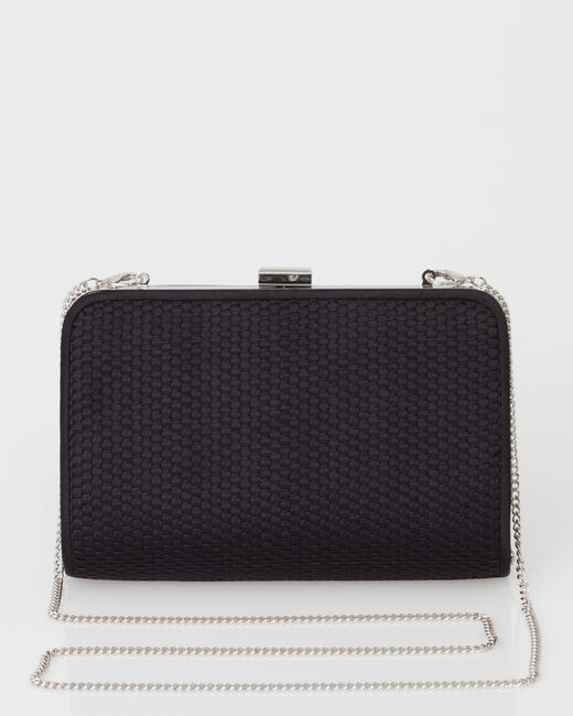 Pauline black clutch bag (1) - 1-2-3