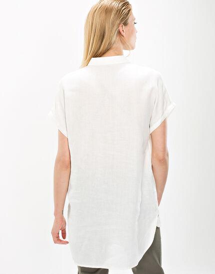 Elsie ecru linen tunic (4) - 1-2-3
