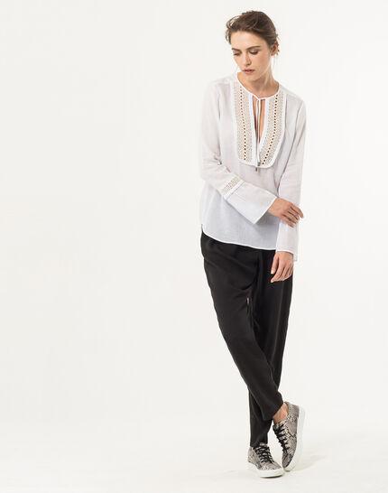Eden ecru cotton blouse (4) - 1-2-3