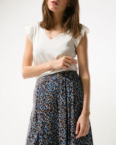 Key flowing printed skirt (1) - 1-2-3