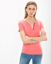 Tee-shirt rose col strass nirvana rose pale.