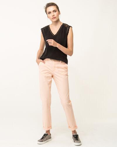 Pantalon 7/8ème abricot Francis (2) - 1-2-3