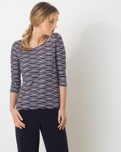 Tee-shirt rayé bleu Nox (1) - 1-2-3