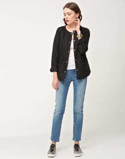 Umbria black linen jacket (4) - 1-2-3