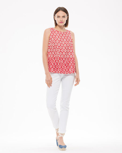 Erwan red printed blouse (2) - 1-2-3