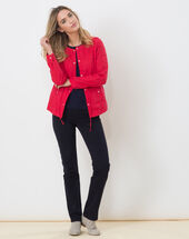 Umbria red linen jacket red.