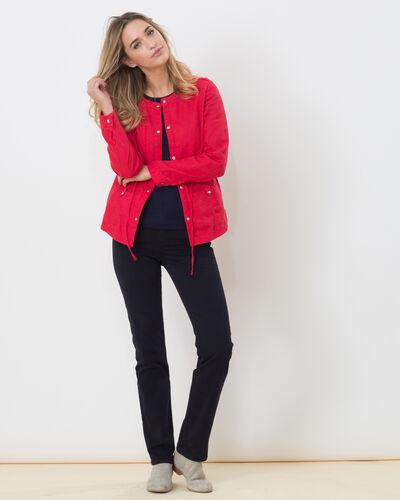 Veste rouge en lin Umbria (2) - 1-2-3