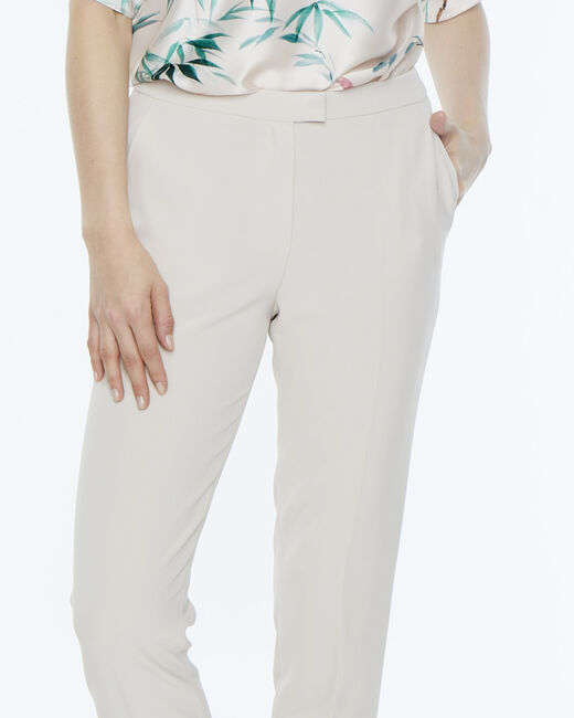 Lara beige tailored trousers (2) - 1-2-3