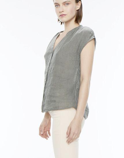 Fiona khaki linen shirt (3) - 1-2-3
