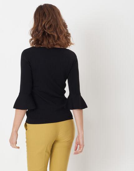 Hesmerelda black sweater with flared sleeves (5) - 1-2-3