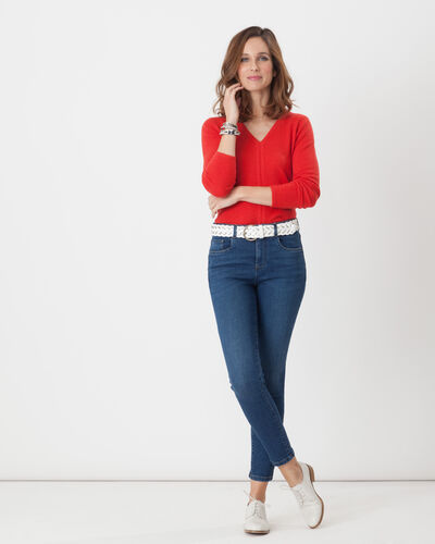 Cashmere sweater in geranium (2) - 1-2-3