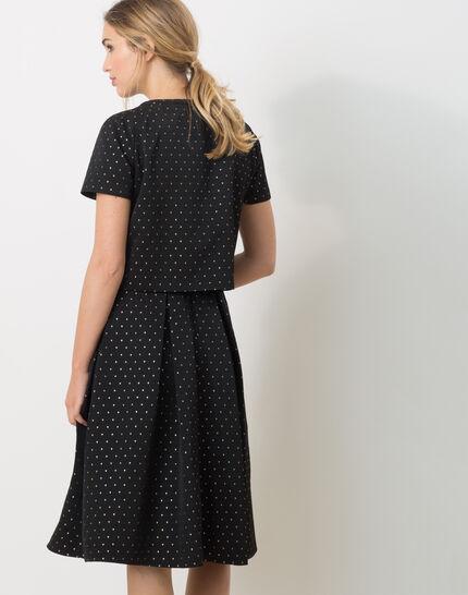 Limoncello black bolero with shiny polka dots (4) - 1-2-3