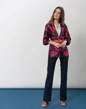 Fiona ecru blouse with v-neck ecru.