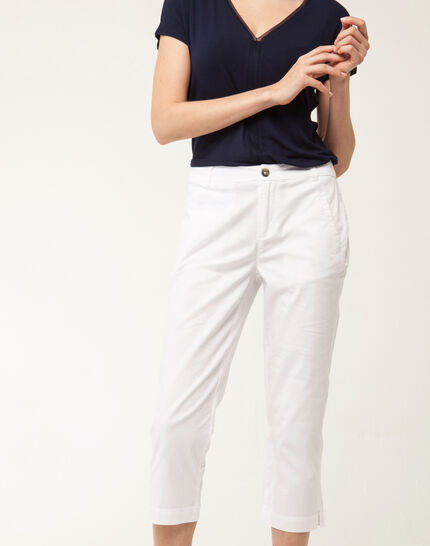 Filibert light white cropped trousers (5) - 1-2-3