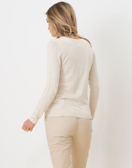 Honorine beige sweater with long sleeves (4) - 1-2-3