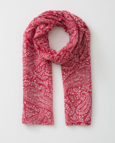 Sun raspberry printed scarf (1) - 1-2-3