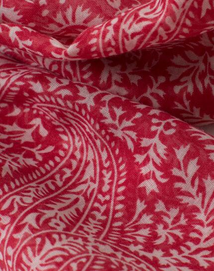 Sun raspberry printed scarf PhotoZ | 1-2-3