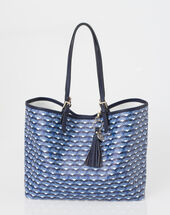 Poppy blue printed bag blue.