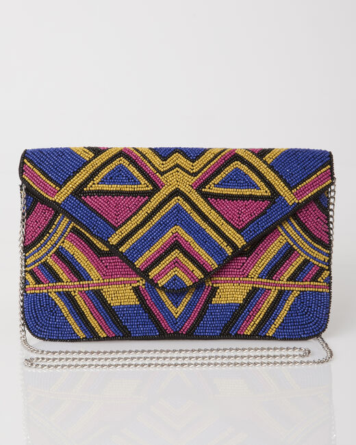 Penny blue graphic clutch bag (1) - 1-2-3