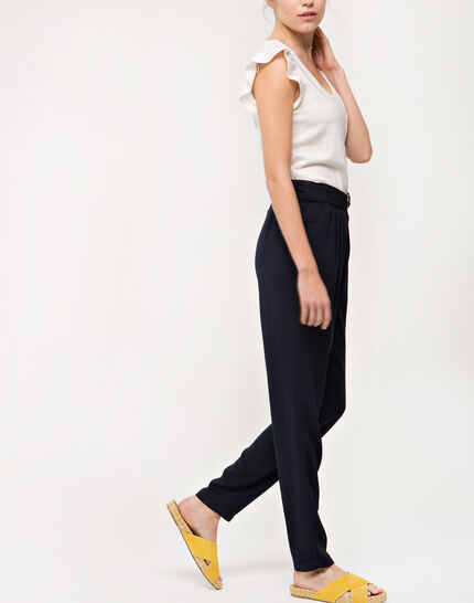 Douguy blue tapered trousers (3) - 1-2-3