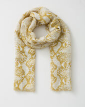Fou scarf with snake print bronze.