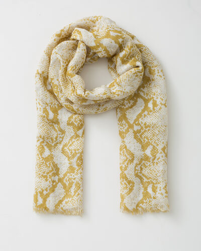 Fou scarf with snake print (1) - 1-2-3