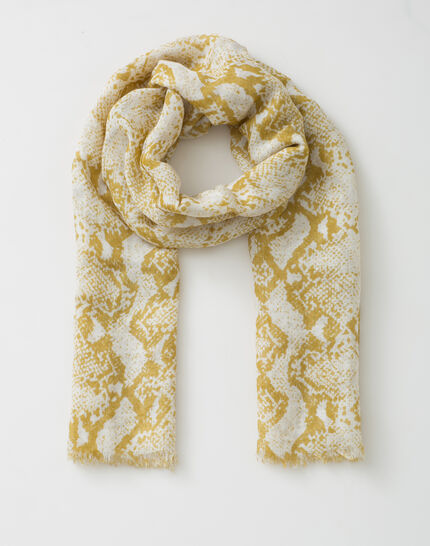 Fou scarf with snake print (2) - 1-2-3