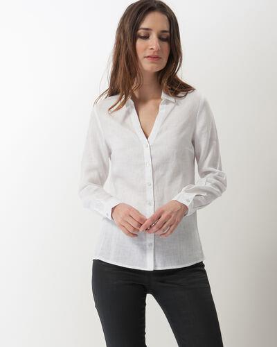 Dany white linen shirt (1) - 1-2-3