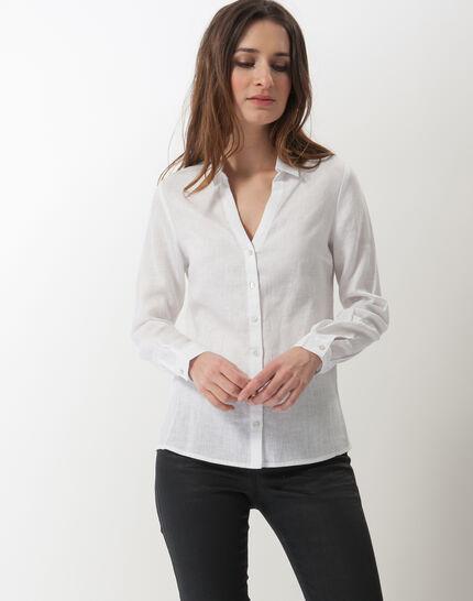 Dany white linen shirt PhotoZ | 1-2-3