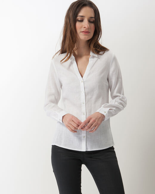 Dany white linen shirt (1) - 1-2-3