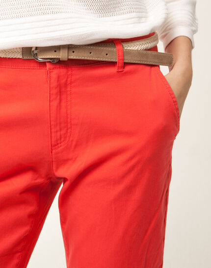 Francis orange 7/8 length trousers (5) - 1-2-3