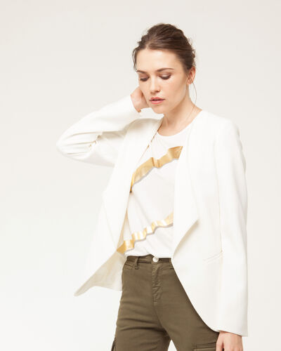 Maite ecru jacket with tailored collar (2) - 1-2-3