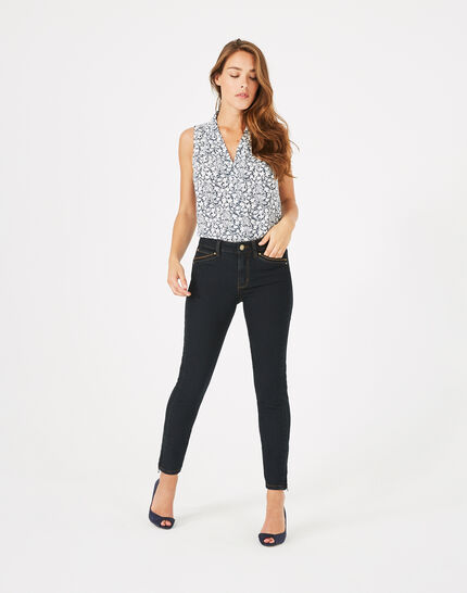 Pia 7/8th length black jeans (3) - 1-2-3