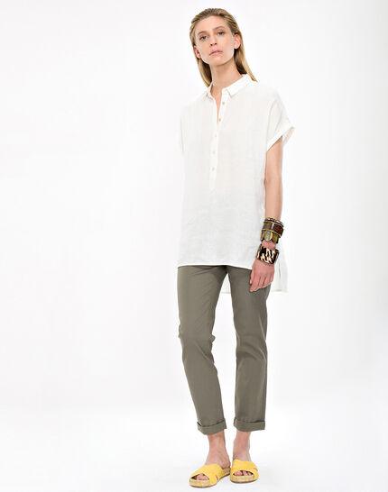 Elsie ecru linen tunic (2) - 1-2-3
