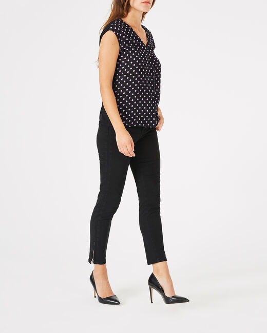 Pia black 7/8 length satin trousers (2) - 1-2-3