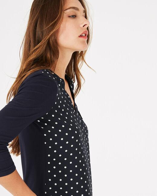 Leden navy blue polka dot T-shirt (2) - 1-2-3