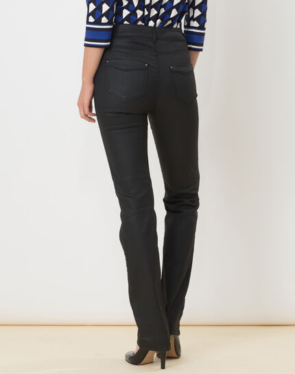Victor black coated straight-cut jeans (4) - 1-2-3