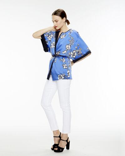 Kimono bleu nuit imprimé fleuri Umberto (1) - 1-2-3