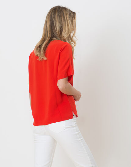 Ellen red shirt with necklace (4) - 1-2-3