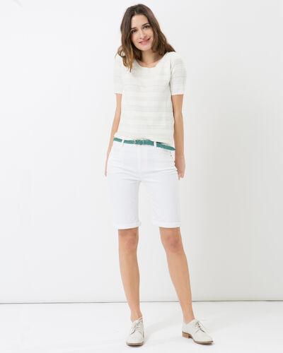 Hélène ecru sweater with stitching detail (2) - 1-2-3