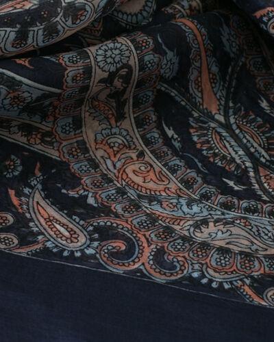 Sabin navy blue printed scarf (2) - 1-2-3