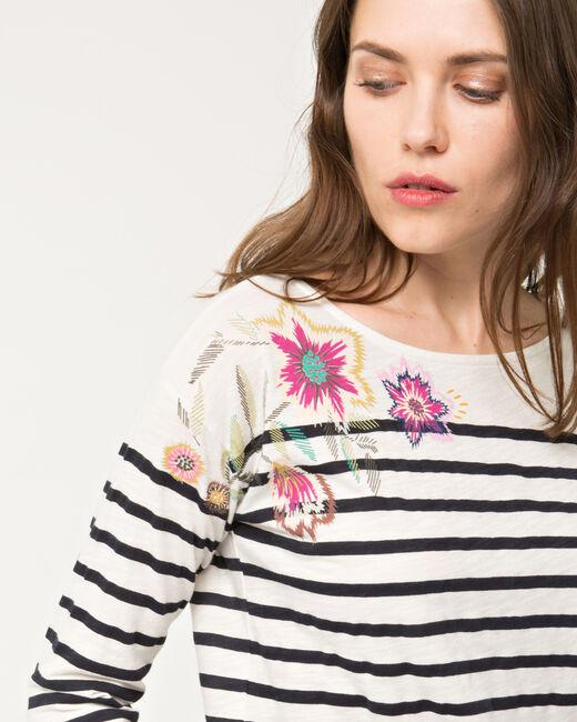 Tee-shirt rayé imprimé floral Nouméa (1) - 1-2-3