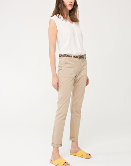 Denis beige 7/8 length trousers (2) - 1-2-3