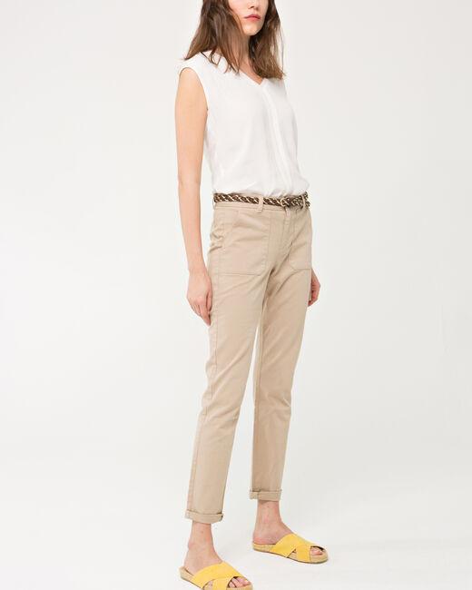 Pantalon 7/8ème beige Denis (1) - 1-2-3