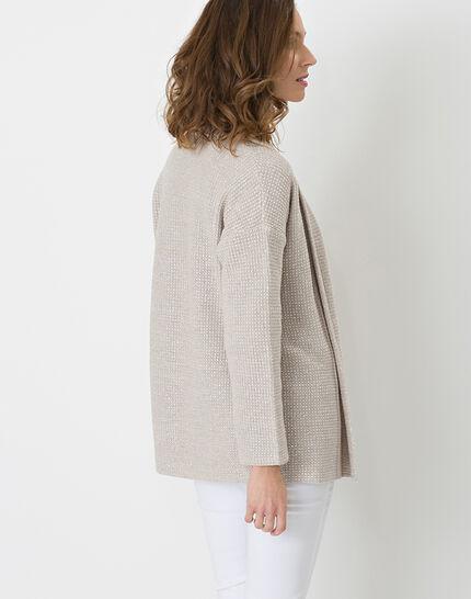Hirise pale grey jacket-style cardigan (4) - 1-2-3