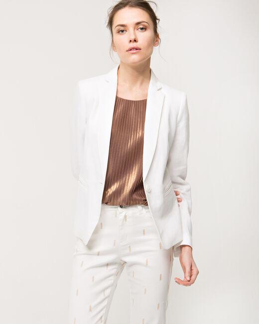Veste blanche en lin Akira (2) - 1-2-3